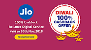 Get Loot on Diwali Special JIO Recharge Cashback Offers
