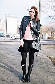 BLACK AND PINK OOTD FOR FALL