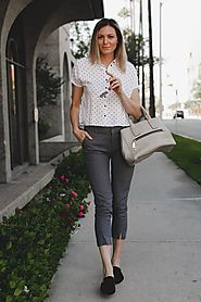 Cropped Pants and Polka Dot Shirt | Tea Cups & Tulips