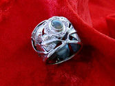 Inlaid Buddhi Ring - Silver