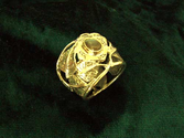 Inlaid Buddhi Ring - Gold