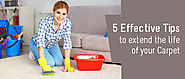 5 Effective Tips to extend the life of your Carpet