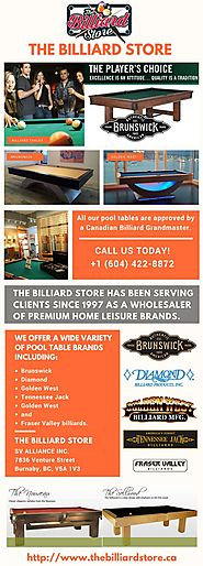 The Billiard Store Vancouver
