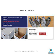 March Special Offer on Industrial Gloves & Archive Box - JT Dixon