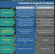 Difference Between Chemical and Organic Evolution