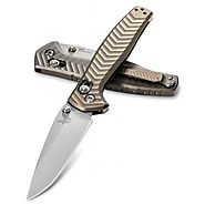 BENCHMADE 781 ANTHEM AXIS LOCK CPM-20CV SINGLE PIECE TITANIUM FOLDING KNIFE.