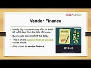 Vendor Financing- Early Payment
