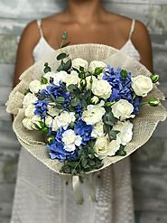 Purchase Beautiful Blue Elegance Flowers from Flower Delivery La Brea