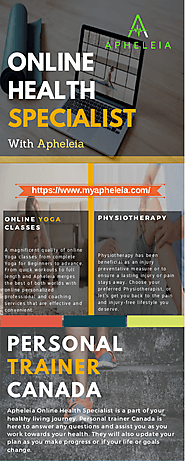 Maintain Your Health with Apheleia Online Health Specialist