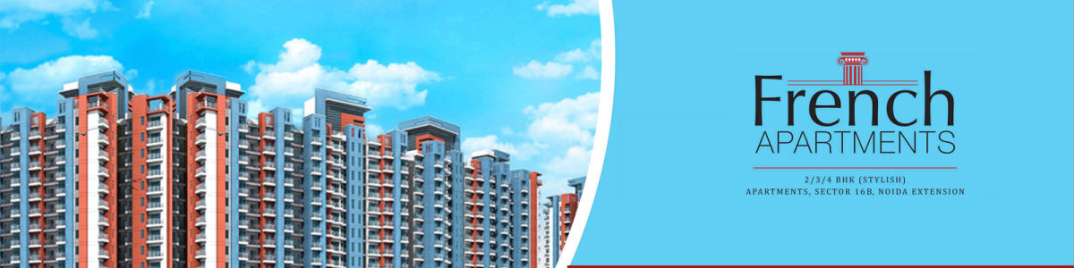 Headline for Which is the best flats in Noida Extension, French apartments low cost of affordable residential flat