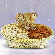 Send DEVOTIONAL DRYFRUITS BASKET Online Same Day Delivery - OyeGifts.com