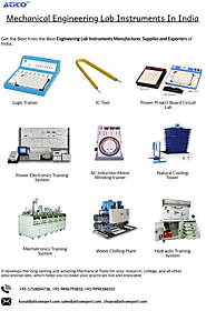 Mechanical Engineering Lab Instruments Manufacturer in India - Atico
