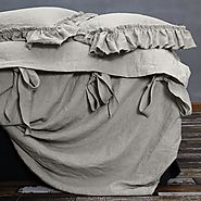 Bow Ties Linen Duvet Cover - Linenshed