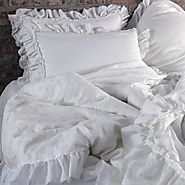 """Shabby Chic"" Frayed Ruffles Duvet Cover 