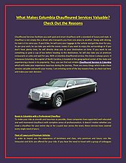 Limo Service In Columbia By SC Express: Live Out Your Dreams