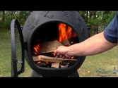 Blue Rooster Chiminea Dragonfly Light A Chiminea Fire Featuring Brothers Burn Mountain