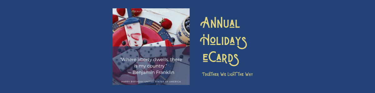 Headline for Holiday eCards by Susan
