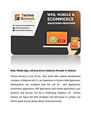 Web, mobile app, and ecommerce solutions provider in madurai