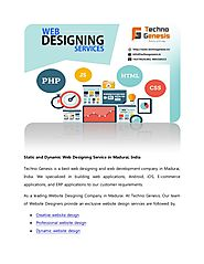 Static and dynamic web designing service in madurai india