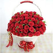 Romantic Roses Basket