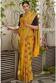 Buy Blended Silk Sarees Online | Designer Silks Sarees with Price