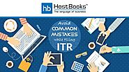 Avoid these Common Mistakes while Filing Income Tax Returns - HostBooks Accounting