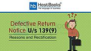 Defective Return Notice U/s 139(9): Reasons and Rectification - HostBooks Accounting