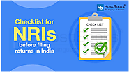 Checklist for NRIs before Filing Returns in India