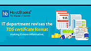 TDS Certificate Format Issued by Employers Revised by The IT Department | HostBooks