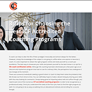 3 Tips for Choosing the Best ICF Accredited Coaching Programs