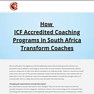 How ICF Accredited Coaching Programs in South Africa Transform Coaches