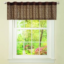 Lush Decor Leopard Valance, Brown - Window Treatment Valances