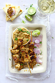 1) Indian Style Chicken Satay