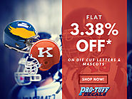 Flat 3.38% Off* on Die-Cut Letters & Mascots!