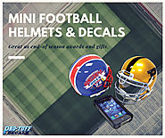 Mini Football Helmet & Decals