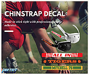 Chinstrap Decals for Football Helmets