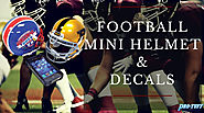 Football Mini Helmet & Decals