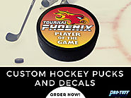 Custom Hockey Pucks & Decals