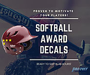 Softball Award Decals