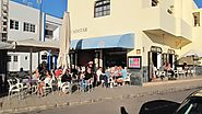 Aguayre Cafe overlooking the new harbour in El Cotillo
