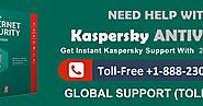 Antivirus Support Helpline USA +1-888-230-0999: Kaspersky Support – For Utmost Protection against Virus & Malicious A...