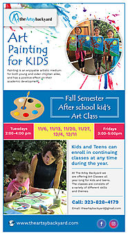 Looking for art painting classes for kids?