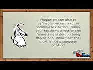 Recognizing and Avoiding Plagiarism