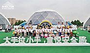 Large Dome Tents for BMW Children's Traffic Safety Education Camp