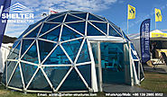 Dia.8m Aluminum Polycarbonate Dome House for Hospitality or Lounge