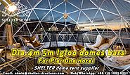 Dia.4m 5m Clear Dome Tents for Pop up Igloo Bars by the Sydney Harbour