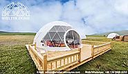 Eco Living Dome with Viewing Deck - Glamping Resort Dome Igloo for sale