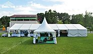 32ft x 78ft Clear Tent holding 180-200 people for Hotel Wedding