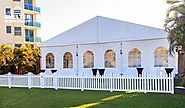 Small Wedding Marquee With French Windows & Cassette floor for 100 ppl
