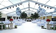Wedding Tent with Transparent Roof for A Sacred Religious Ceremony